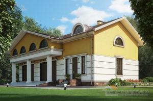Проект гостевого дома, общей площадью 228 м2, К-0386