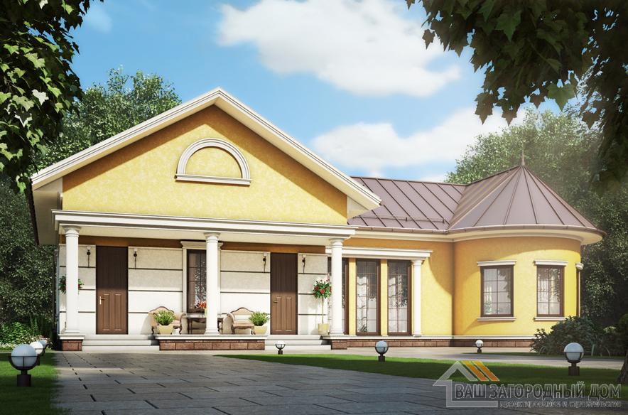 Проект 1 этажной бани, общей площадью 131 м2, К-0387