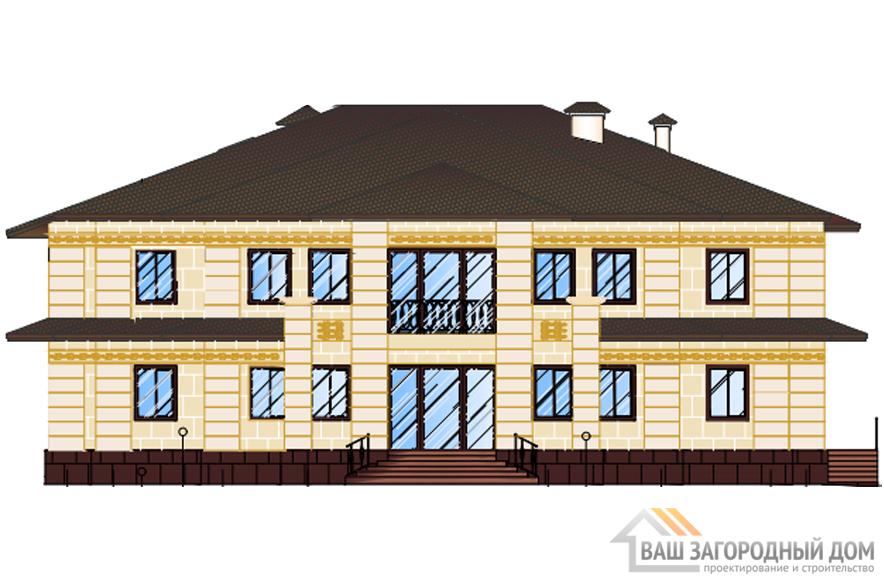 Проект дома в 2 этажа с мансардой, общей площадью 844 м2, К-0393