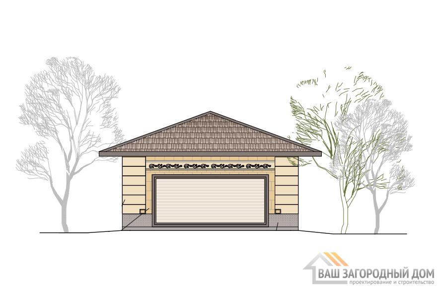 Проект 1 этажного гаража, общей площадью 58 м2, К-0394