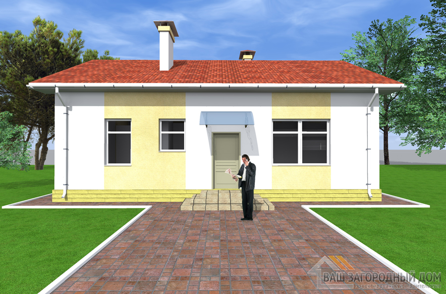 Проект одноэтажного дома, общей площадью 85 м2, К-0397