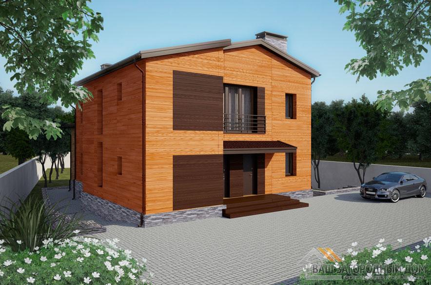 Проект 2 этажного кирпичного дома площадью 260 м2, К-0408