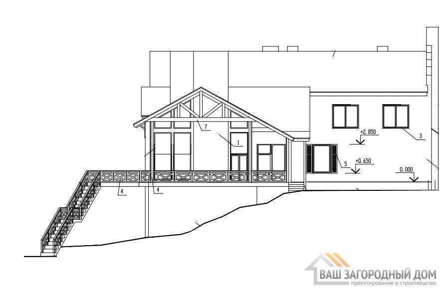 Проект 2 этажного каркасного дома площадью 493 м2, КР-0417