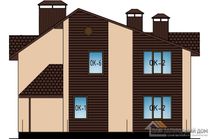 Проект 2 этажного газобетонного дома площадью 169 м2, К-0418