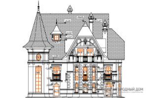 Проект 3 этажного дома площадью 231 м2, К-0423