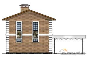 Проект гостевого дома с гаражом площадью 110 м2, К-0424