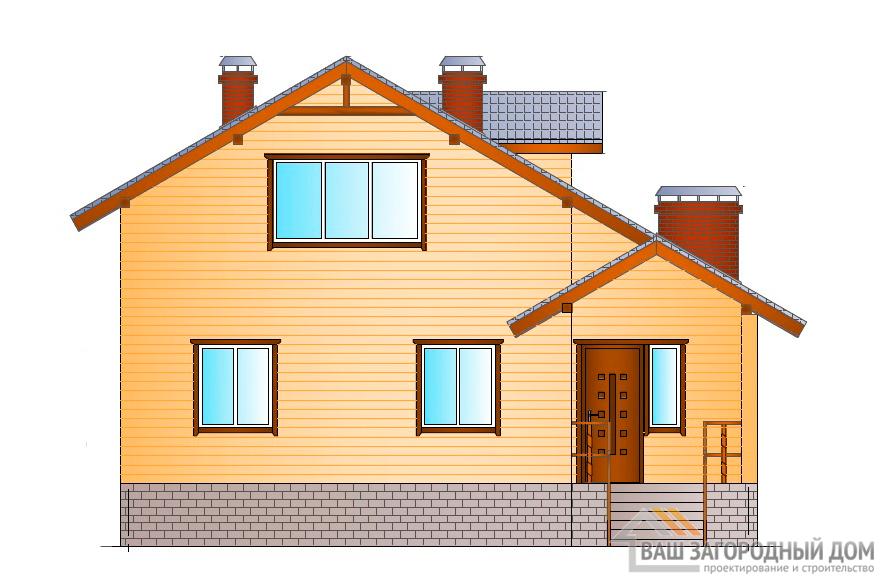 Проект одноэтажного дома с мансардой, общей площадью 166 м2, К-0086
