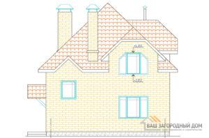 Готовый проект одноэтажного дома мансардного типа с парной, площадью 84,5м2, К-0089