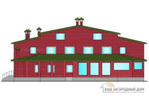 Проект 2-х этажного этажа с мансардой, общей площадью 678 м2, К-0074