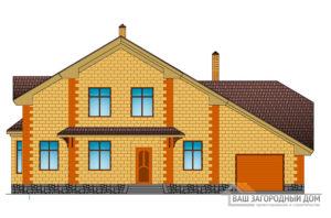 Проект дома с сауной и гаражом, общей площадью 330 м2, К-0151
