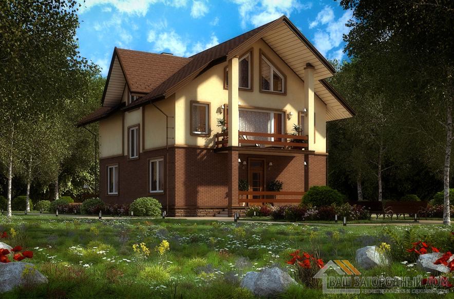 Проект 2 этажного пенобетонного дома площадью 249 м2, К-0111