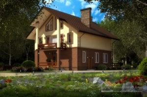 Проект 2 этажного пенобетонного дома площадью 249 м2, К-01112