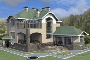 Проект 2 этажного керамического дома площадью 481 м2, К-0126