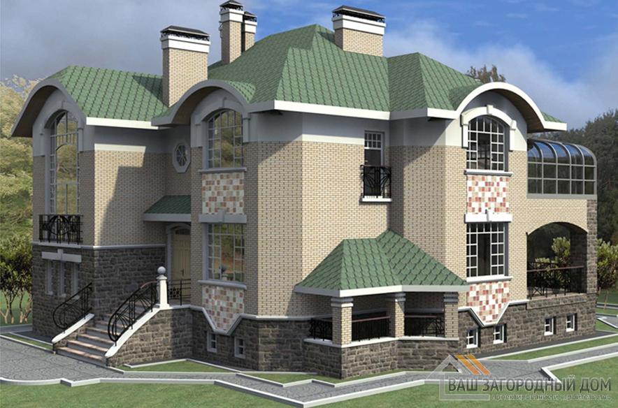 Проект 2 этажного керамического дома площадью 481 м2, К-01262
