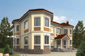 Проект 2 этажного каркасный дома площадью 326 м2, К-0138