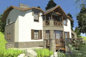 Проект 2 этажного каркасного дома площадью 161 м2, Д-0139