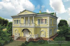 Проект 2 этажного керамического дома площадью 324 м2, К-0147