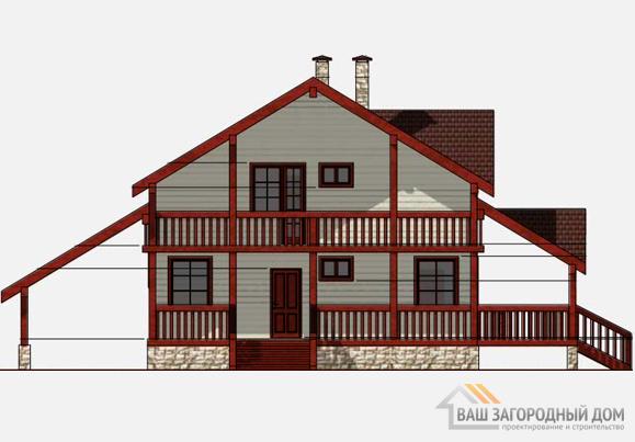 Проект 2 этажного каркасного дома площадью 166 м2, К-0154