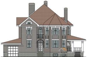Проект 2 этажного дома с мансардой площадью 413 м2, К-0159