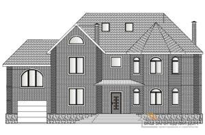 Проект 2 этажного кирпичного дома с гаражом площадью 422 м2, К-0161