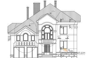 Проект 2 этажного кирпичного дома площадью 236 м2, К-0162