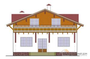 Проект 2 этажного газобетонного дома площадью 176 м2, К-0165