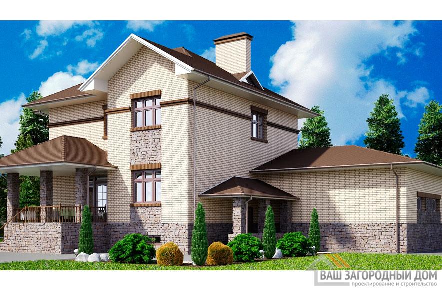 Проект 2 этажного дома, возведенного из керамических блоков площадью 345 м2, К-01732