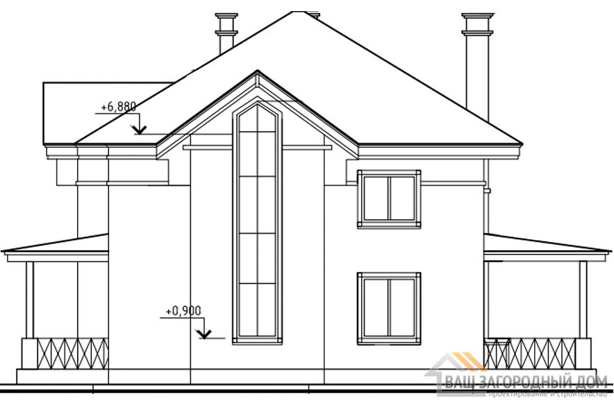 Проект 2 этажного газобетонного дома площадью 200 м2, К-0176