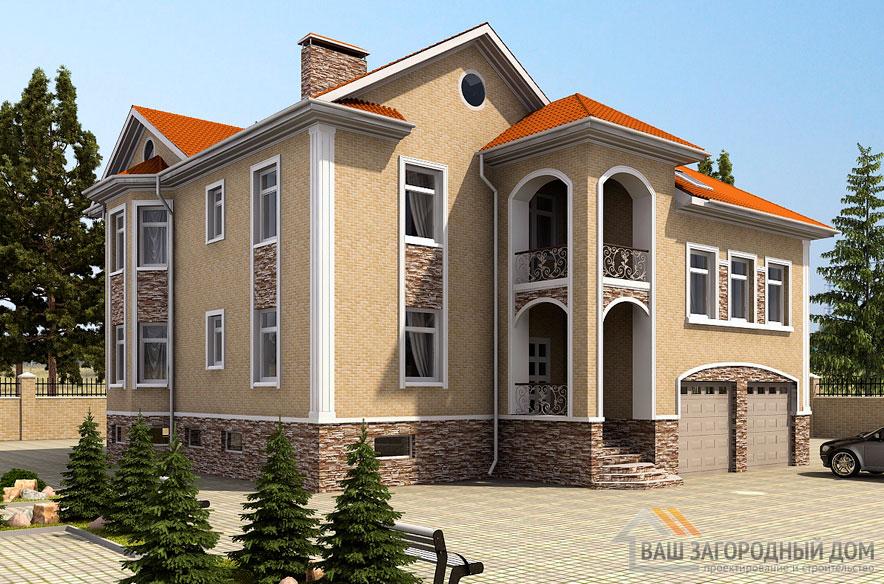 Проект 2 этажного керамзитобетонного дома площадью 535 м2, К-0178