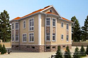 Проект 2 этажного дома, возведенного из керамбитобетонных блоков площадью 535 м2, К-01782