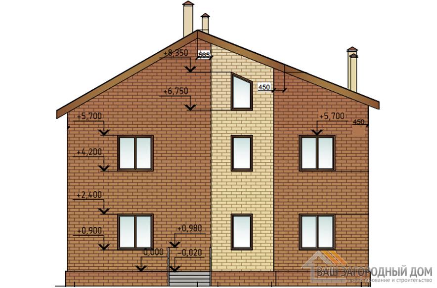 Проект 2 этажного газобетонного дома площадью 269 м2, К-0179