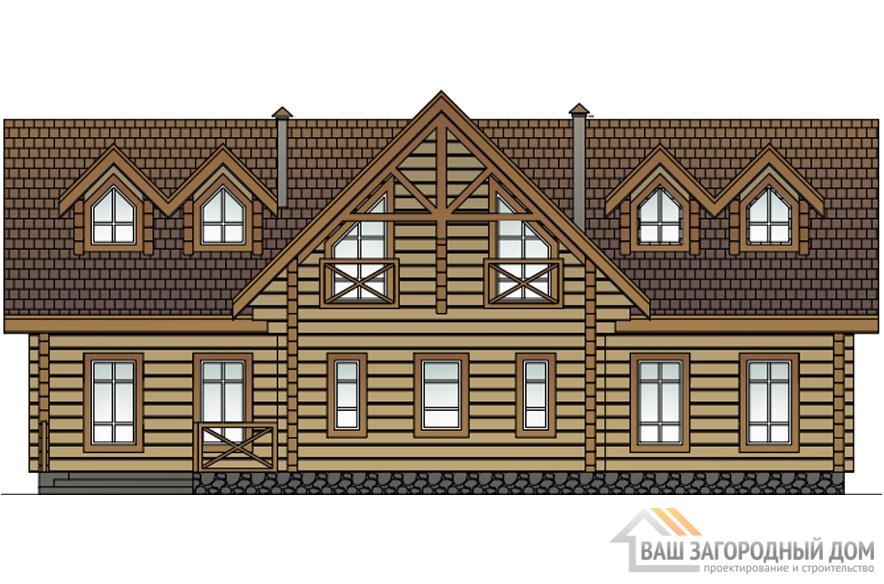 Проект 2 этажного деревянного дома площадью 230 м2, Д-0180