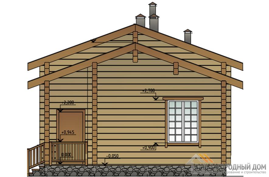Проект деревянной сауны площадью 75 м2, Д-0181