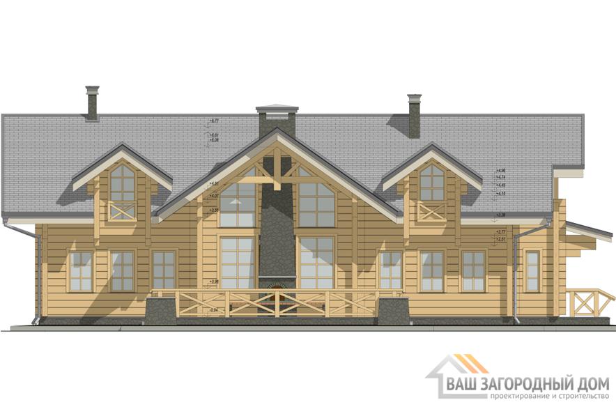 Проект 1 этажного деревянного дома площадью 283 м2, Д-0182