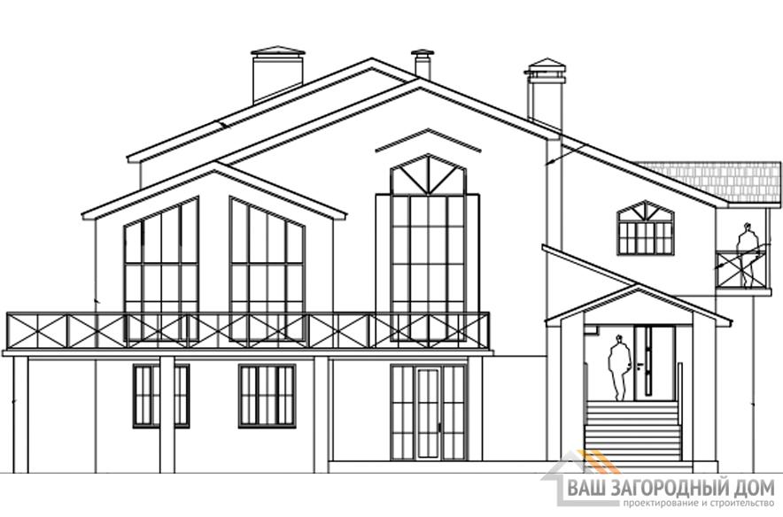 Проект 2 этажного каменного дома площадью 425 м2, К-0187