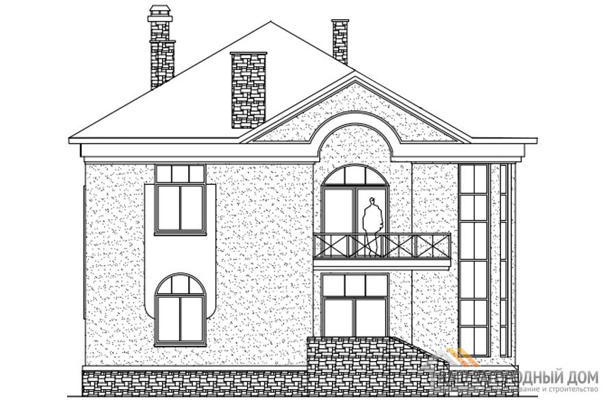 Проект 2 этажного газобетонного дома площадью 234 м2, К-0189