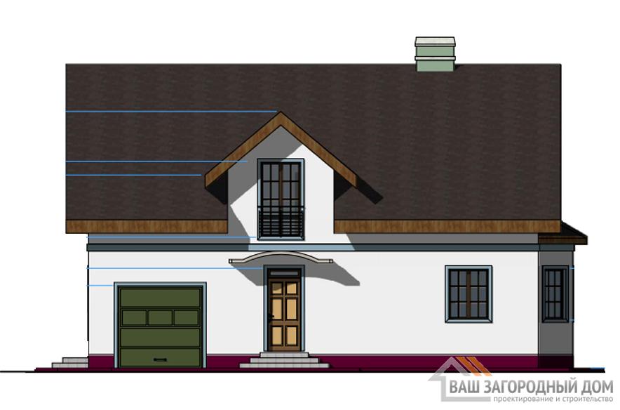 Проект 2 этажного каркасного дома площадью 211 м2, КР-0195