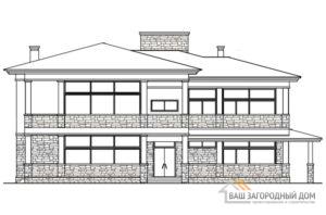 Проект 2 этажного газобетонного дома площадью 401 м2, К-0199