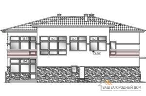 Проект 2 этажного газобетонного дома площадью 416 м2, К-0200