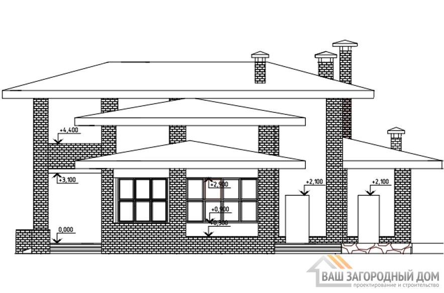Проект 2 этажного газобетонного дома площадью 326 м2, К-0201