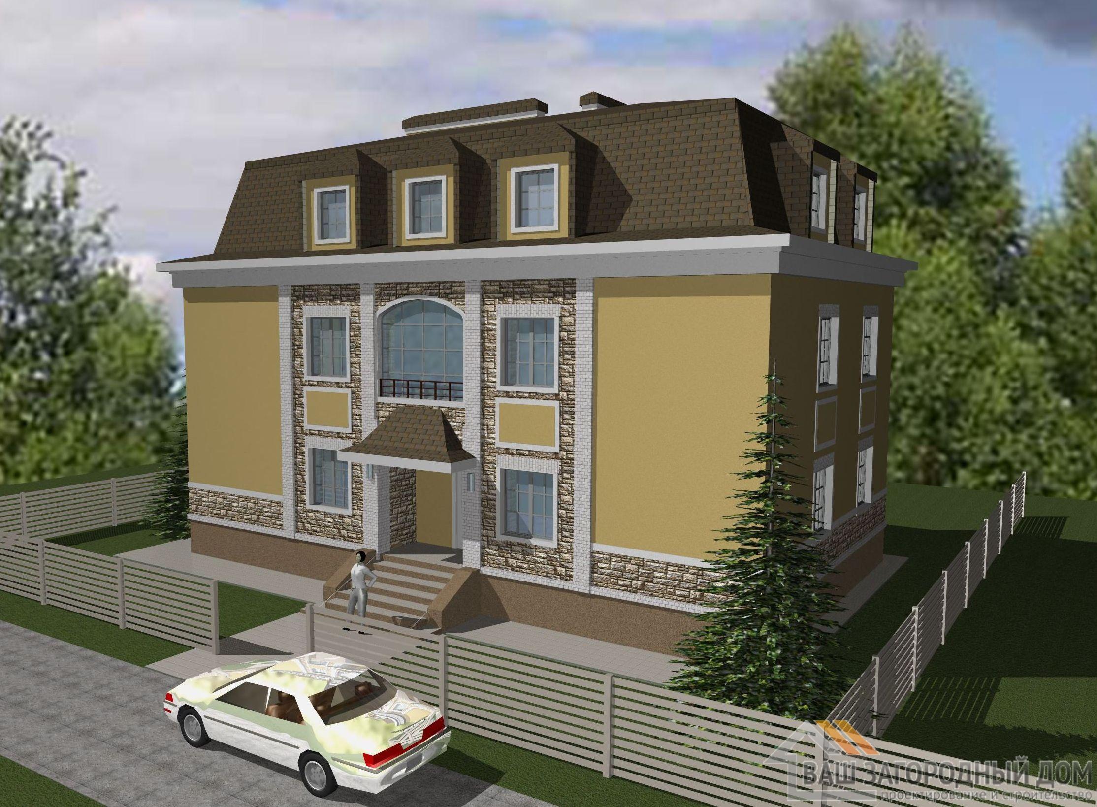 Проект 2 этажного керамического дома площадью 248 м2, К-0202