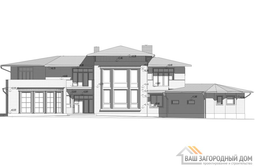Проект 2 этажного кирпичного дома площадью 599 м2, К-0203