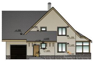 Проект 2 этажного газобетонного дома площадью 210 м2, К-0204
