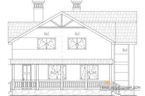 Проект 2 этажного газобетонного дома площадью 191 м2, К-0205