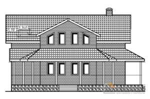 Проект 2 этажного газоблочного дома площадью 191 м2, К-0207
