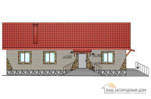 Проект 1 этажного газобетонного дома площадью 138 м2, К-0209
