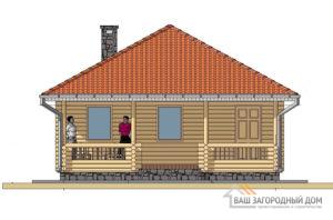 Готовой проект деревянной бани, общей площадью 52 м2, К-0103
