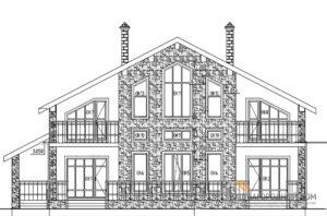 Проект коттеджа в 2 этажа, общей площадью 273 м2, К-0440
