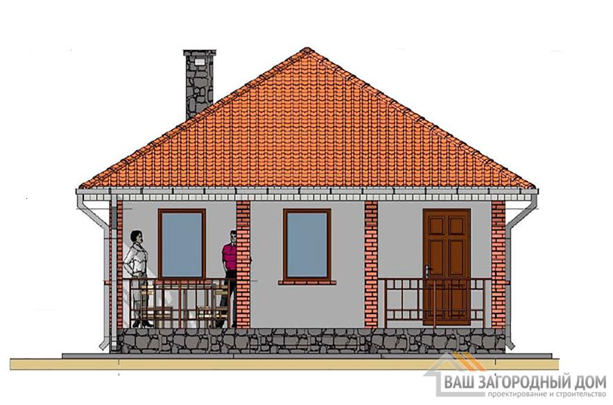 Проект бани, общей площадью 48,3 м2, К-0110