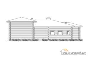 Проект деревянной сауны площадью 202 м2, Д-0210
